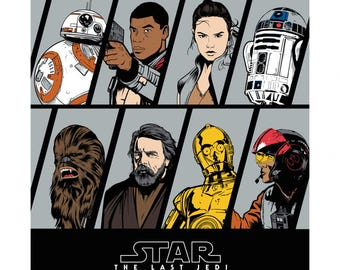 Disney Star Wars cotton Resistance  Character panel  by Camelot fabric7360359P
