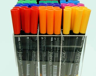 Fabrico Marker Assortment, Set of 12 Standard Colors From Tsukineko-Great for fabric; acid free and fade resistant