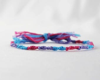 Bisexual Bi Pride Friendship Bracelet LGBT Jewelry