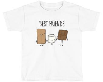 S'Mores Best Friends Kids Short Sleeve T-Shirt