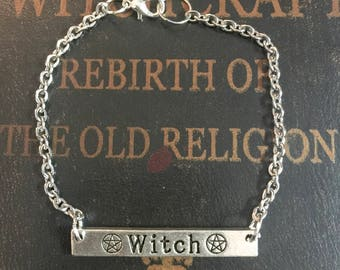 Witch Bracelet, Wiccan jewelry, Wicca jewelry, witches, halloween