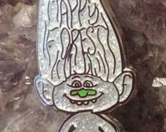 Happy Forest Troll Electric Forest Festival Hat Pin