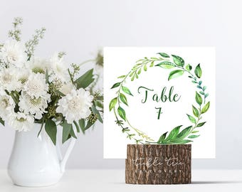 Square Table Numbers - Breezy Leaf (Style 13701)