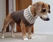 Crochet Pattern / Dog Sweater / (2 sizes) Seamless Earhart Design / PDF 1214