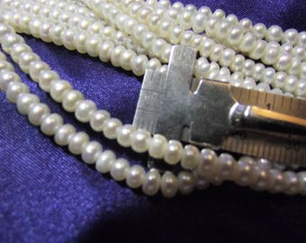 Beautiful 3 mm Fresh Water Blue Pearls 1 strand P lot 015