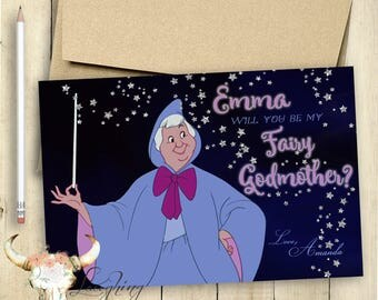 Godmother Card Fairy Godmother Card Will You be my Godmother Card PRINTABLE