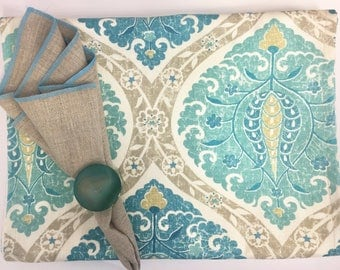 Katrina Aqua Table Runner
