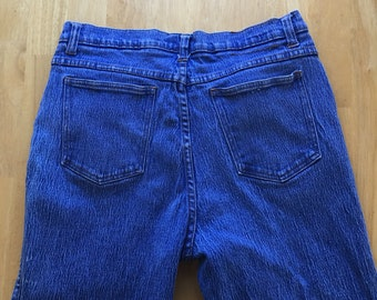 Zana Di Vintage High Waisted Jeans Blue Denim Cotton Skinny Ankle 32 Waist Plus Size 15/16