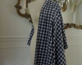 SALE New 2 yards yds. Apparel Fabric Plaid Suiting Perfect for a Dress or Skirt Gray Pink and White