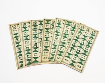 7 Vintage Lotto Cards