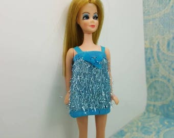 Dawn Doll  Gala Go Go 621 mini dress Blue fashion Outfit 6.5 inch dolls Topper Dawn Angie Glori Jessica