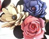 16 leather rosettes