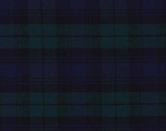 Navy Blue Plaid and green-50 cm
