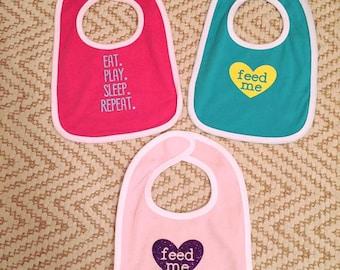 Infant Bib gift set of 3