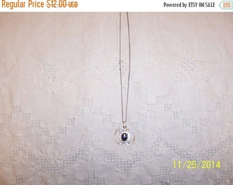 TWICE A YEAR, 25% Off Vintage Hematite Pendant. Sterling Silver.