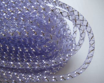 4 mm LAVENDER Mesh Tubing, Nylon Mesh Tubing, Mesh Wreathes for Wedding, Baby Shower, Crafting, Embellishment, 50 yards