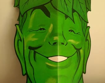 """1970s Huge Jolly Green Giant Display Coloring Book Promotional Unused Mail Away Premium 1970s 26"""" Size"""