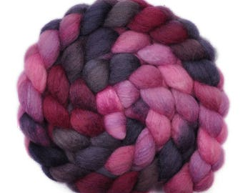 Hand painted roving - Silk / BFL wool 25/75% spinning fiber - 4.2 ounces - In A Jam 2