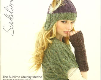 Sublime 642 The Sublime Chunky Merino Tweed hand knit book: NEW