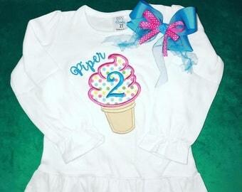Ice cream cone birthday shirt