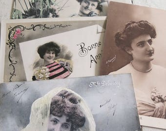 Four antique postcards from 1905 - 1913
