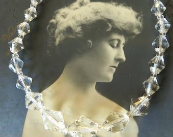 Art deco 30s crystal necklace