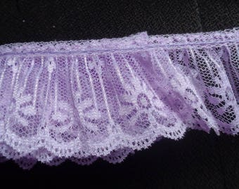 Ruffle Lace Trim 2 inch wide lavender color price per yard