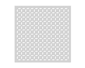 SALE Hero Arts SA107 Pop Pattern Stencil 6×6, Scrapbooking, Card Making, Paper Crafting, Texture