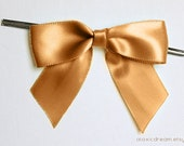 Reserved 120 CARAMEL GOLD Pre-made Bow Embellishments