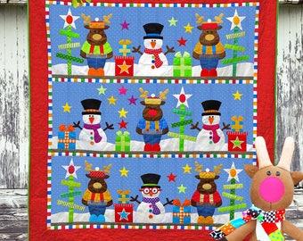 CHRISTMAS Pattern Bundle | Quilt Patterns | Toy Patterns | PDF Pattern | Christmas Quilts | Snowmen | Kids Quilts | Reindeer