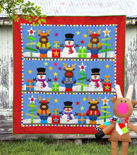 CHRISTMAS Pattern Bundle | Quilt Patterns | Toy Patterns | PDF Pattern | Christmas Quilts | Snowmen | Kids Quilts | Reindeer
