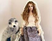 Selkie art doll posable needle felt seal cloth soft sculpture sea theme folktale unique present
