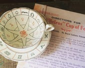 "RARE- Authentic Aynsley 1930's ""The Nelros Cup of Fortune"", Reading Tea Leaves, Fortune Telling Tea Cup"