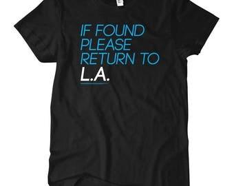Women's Return to Los Angeles T-shirt - S M L XL 2x - Ladies' Tee, La Shirt, LAX Shirt, Travel Shirt, Nomad Shirt, Traveler Shirt