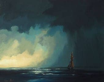 it'll rain, original oil painting