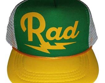 Kid's Rad Radical  TODDLER Snapback Mesh Trucker Hat Cap GYW