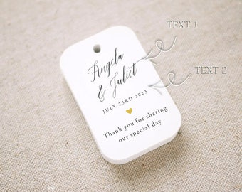 Thank You For Sharing Our Special Day Personalized Gift Tags ,Wedding Favor Tags ,Thank you tags - Set of 24 (Item code: J715)