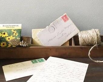 Antique Wooden Drawer Tray Caddy Organizer / Salvaged Sewing Machine Part / Unique Storage