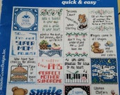 340 Mini Messages, quick and easy cross stitch patterns