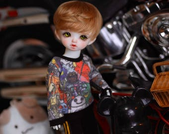 YO-SD Black stripe pants