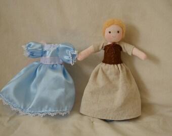 Cinderella doll, waldorf doll, doll's house doll