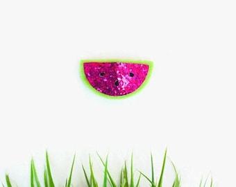 SALE Watermelon Felt Snap Clip