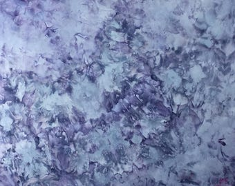 Ice Dyed Fabric, Blooming Hydrangeas #2, Fat Quarter (MB) #34