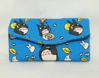 Neccessary Clutch Wallet (NCW) made with Totoro Fabric