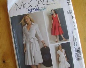 Uncut McCalls Sewing Pattern 5314 - Misses Dress - Size 6-12