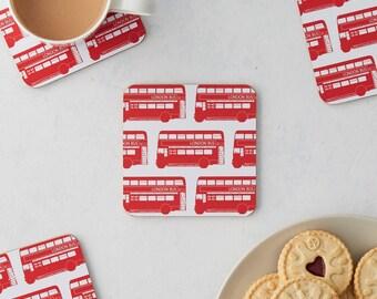 London Bus Coaster - Set of 4