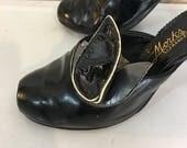 Vintage 50's Peep Toe...