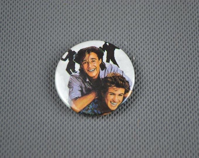 Vintage Original WHAM! 1980s Badge Pin George Michael