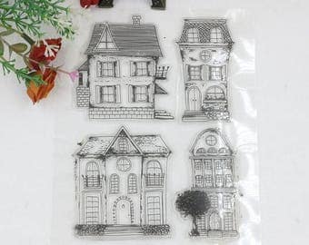 Houses Clear Stamp Set