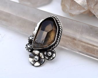 Reserve for Sarah Only || Morning Dew Collection || Smokey Ring I  // Smoky Quartz Collection